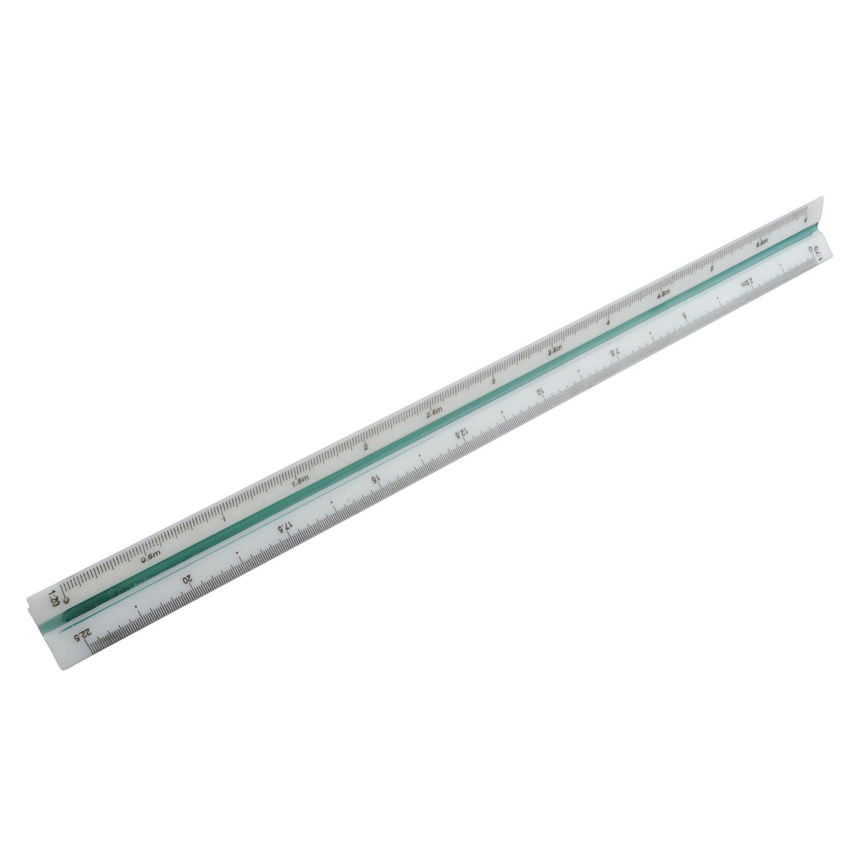 TOOGOO(R) 1:20 1:25 1:50 1:75 1:100 1:125 Engineer Metric Triangular Scale Ruler