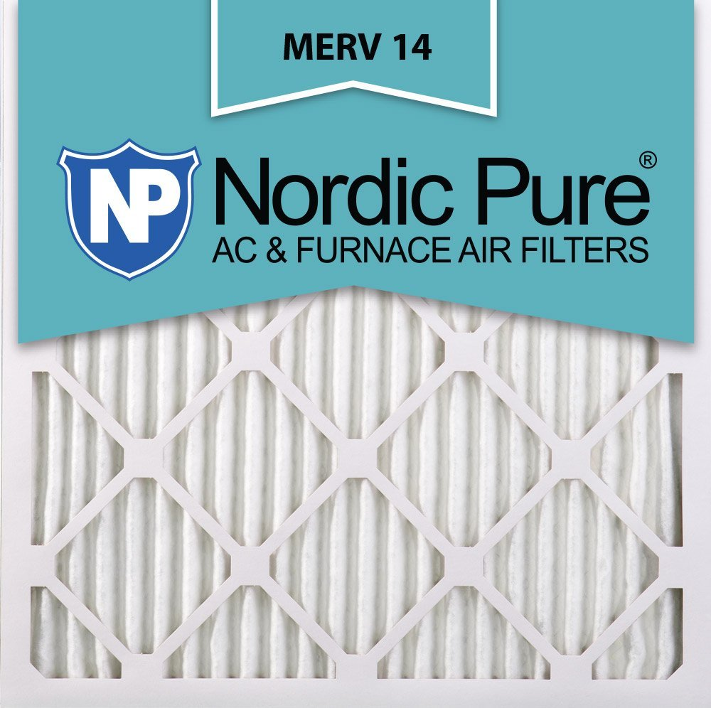 Nordic Pure 18x18x1M14-6 Pleated AC Furnace Air Filter, Box of 6