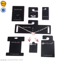 Sinicline single color logo low price black jewelry cards for earrings necklaces