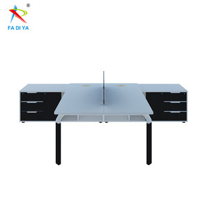 2 person office desk clusters with side return