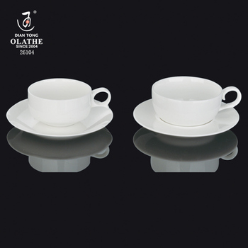 Italian Square Shape Porcelain Coffee Cup And Saucer Set