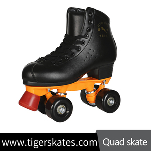 Customize Quad Skate 4 Wheel Colorful Rental Rink Skating Professional Level Micro Fiber Genuine Leather Boot