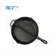 Factory Price Preseasoned Cast Iron 2 Section Divided Frying Pan Electric Skillet