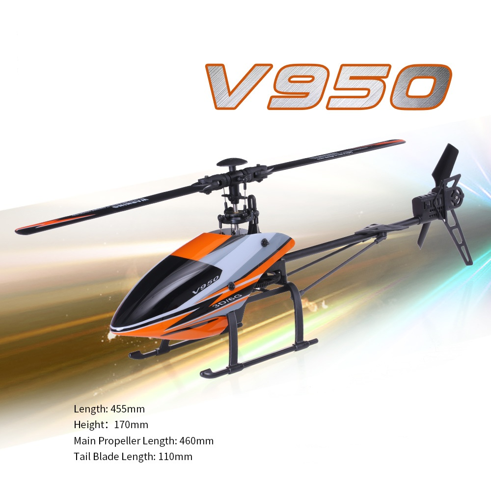 WLtoys V950 2.4G 6CH 3D 6G System Brushless Flybarless RC Toy Helicopter RC helicopters toys RTF
