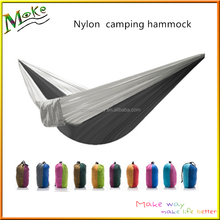 2017 summer hot sale parachute camping hammock portable outdoor double person swing hammock chair with tree straps