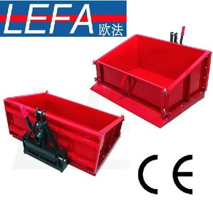 Tractor PTO driven transport box for heavy duty