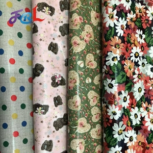 Wholesale Waterproof PVC Coating Printing Cotton Chintz Fabric