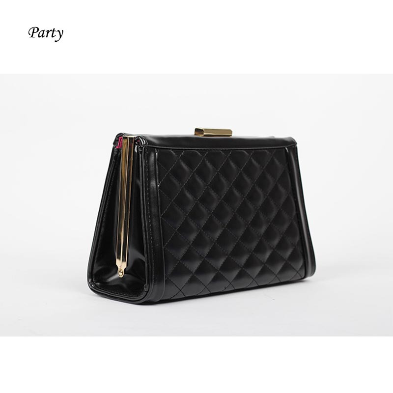 Luxury diamond pattern trunk box bag mini clutch bag with chain for lady women handbag party bag nobe messenger bag wedding tote