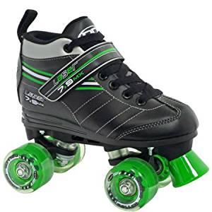 Roller Derby Skate Corp Laser 7.9 Boys' Speed Quad Skates, Black /Size:7