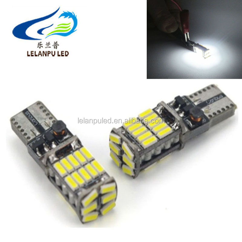10 w5w 194 501 led car interior light T10 26SMD 4014 Chip Instrument Lights bulb lamp canbus