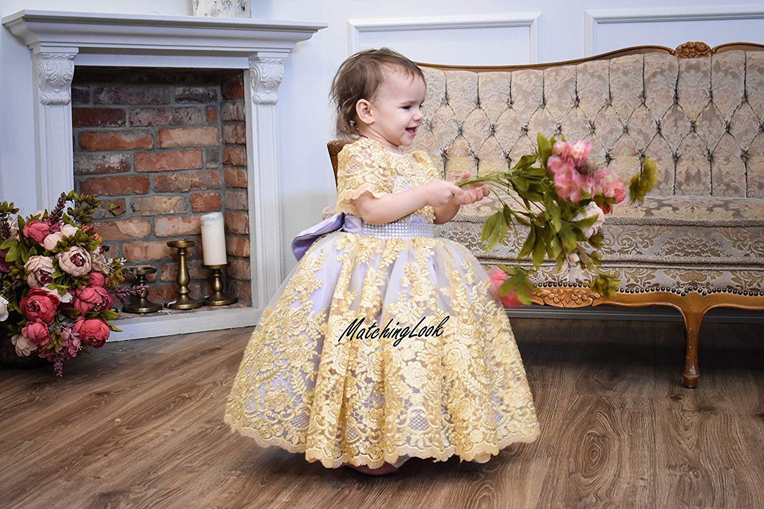 6e086eb39ba Get Quotations · Baby Girl Birthday Dress Baby