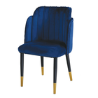 2019 Best Selling Classic Restaurant Kitchen Metal Steel Chromed Leg gold office chair for Hotel
