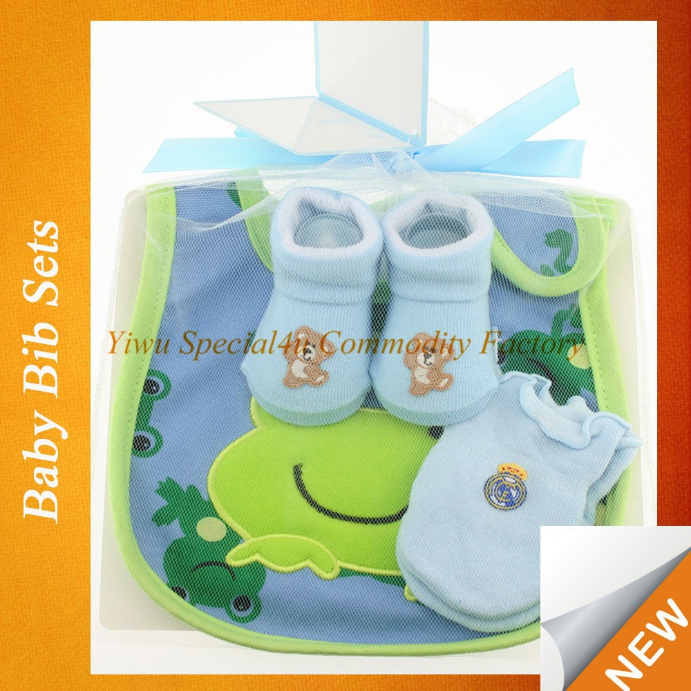 High quality baby bib waterproof lovely frog pattern baby bibs sets baby bib carters SPSY-685