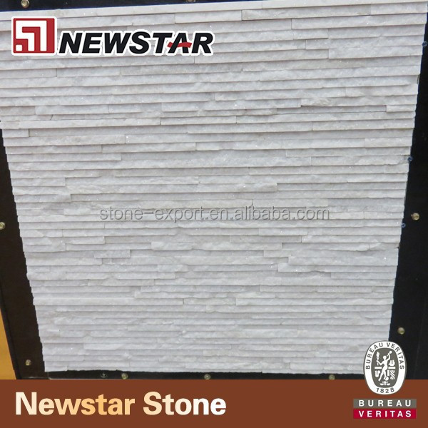 Natural and popular white quartzite for wall panel
