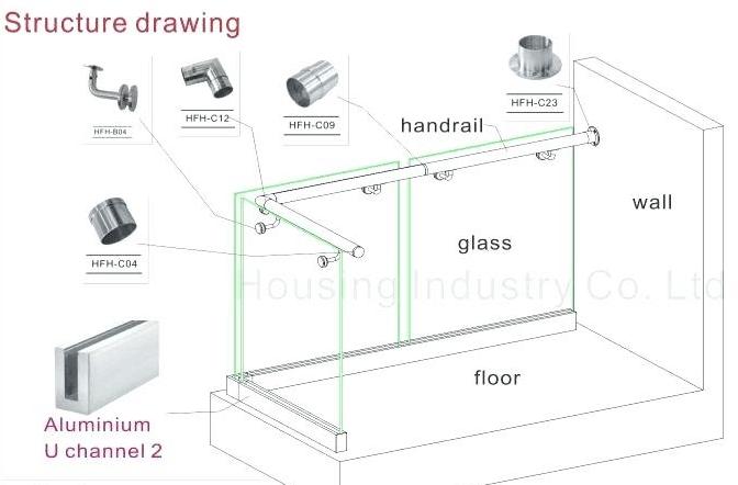 Glass Balcony System Frameless Glass Balustrade Fixing Details Buy