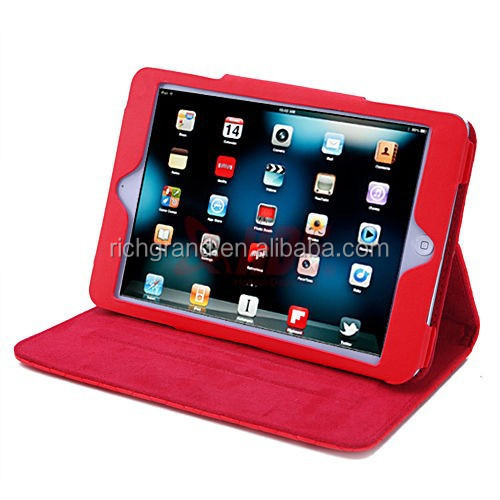 Folding quilted folio leather case cover stand for ipad 2 3 4 5 Air Mini Retina