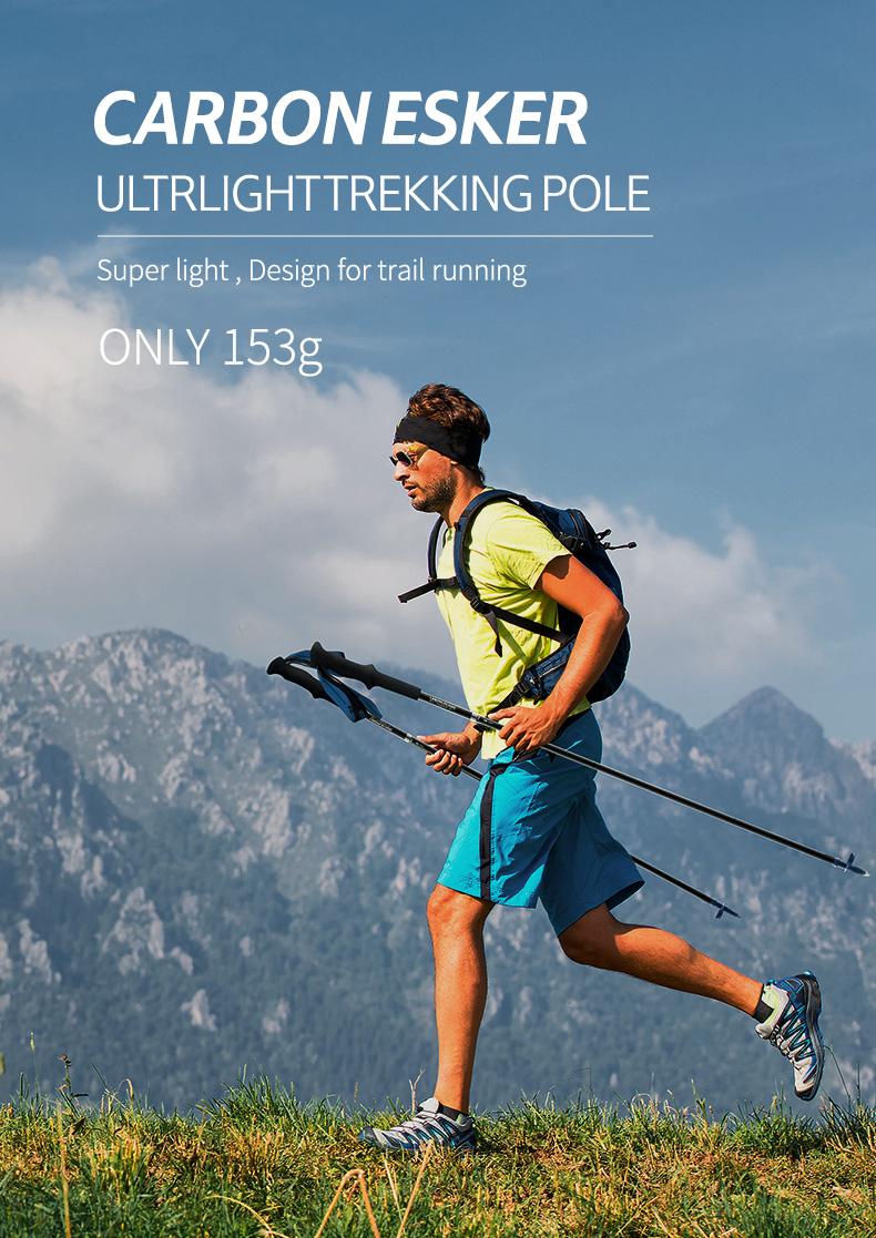 Naturehike ST08 4-Node Mountaineering Sticks alpenstock Ultralight Folding Carbon Fiber Trekking Pole for Walking Trail Running