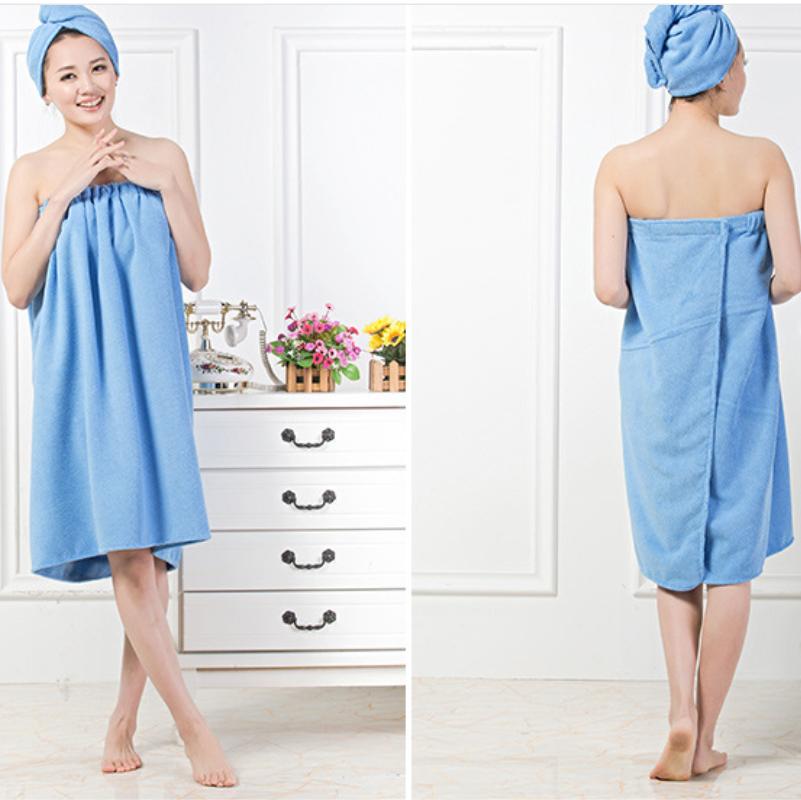 Womens Bath Microfiber Towel Shower Bath SPA Wrap Body Bathrobe Beach L