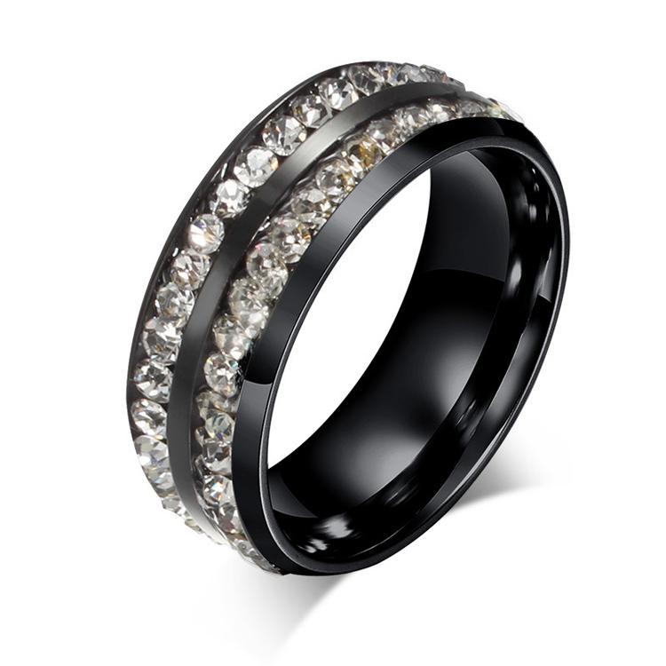 new design black stainless steel eternity engagement