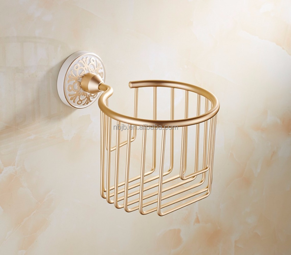JBOH-040 Golden Ceramic Toliet Paper Holders/ Paper Rack