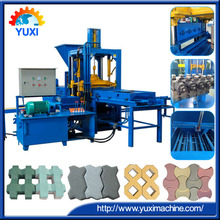 Double layer feed material YUXI QT3-20 automatic interlocking concrete brick making machine for sale in usa