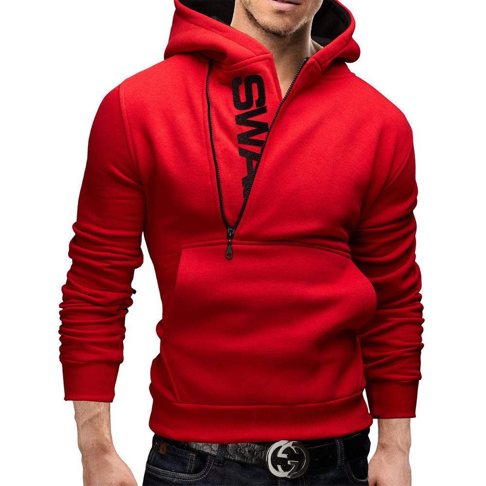 Mens red hoodies