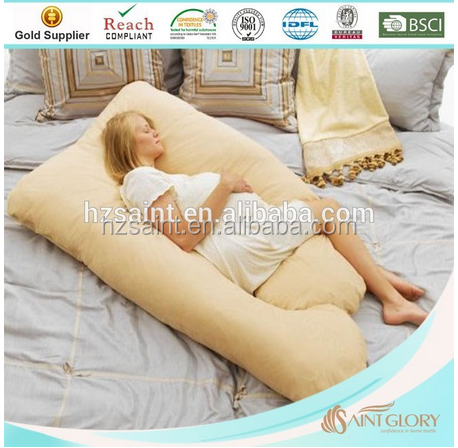 2016 Hot selling big softer polyester u and j shape pregnant body pillow maternity squishy full body pillow for pregnancy women