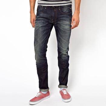 b86116fa Denim bolsillo con pantalones vaqueros de diseño hombre slim ropa casual  para hombres