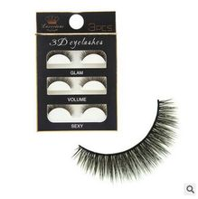 3pairs/box High Quality Hand Made Type 3D False Eyelash Minl False Eyelash