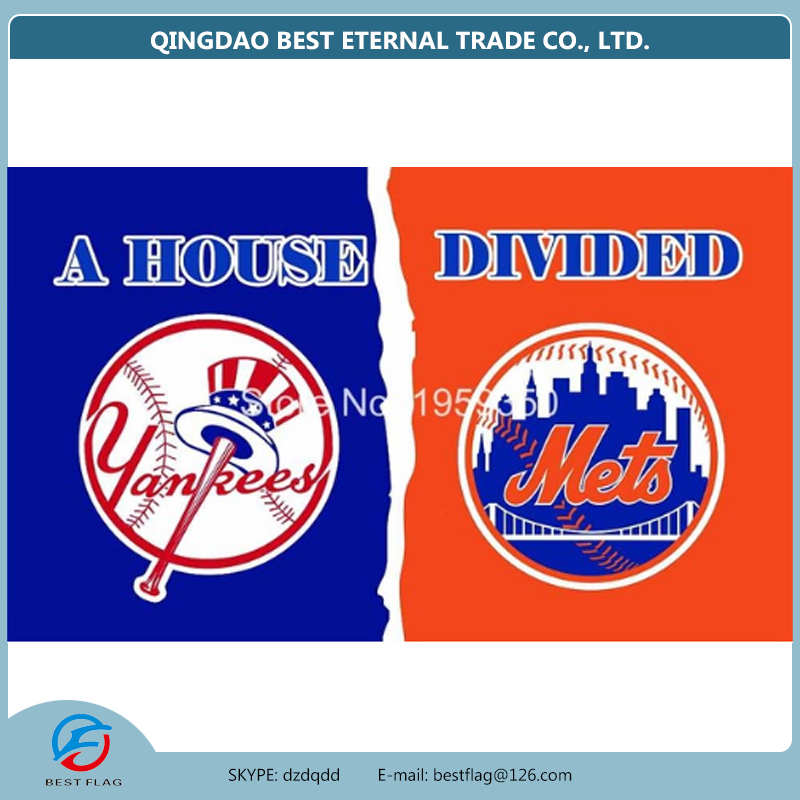 Best Flag - New York Yankees vs New York Mets house divided Flag