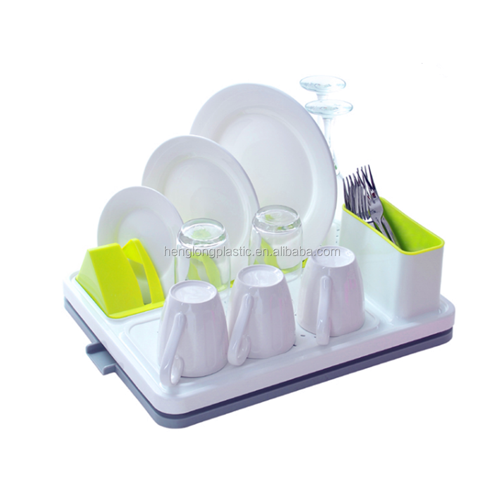 Eco-friendly Easy Storage Dish Drying Rack Plastic Dish Drainer Rack