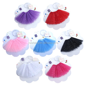 Wholesale Girls Professional Ballet Tutu 100% Polyester Baby Tutu With Sparkle Stars