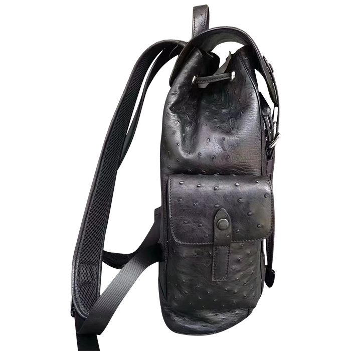 Genuine Ostrich Leather Loop School Backpack for Men/Women
