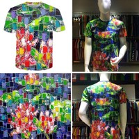 Men's T Shirt and T-Shirt Women Available for Digital Sublimation printed 3D t-shirt