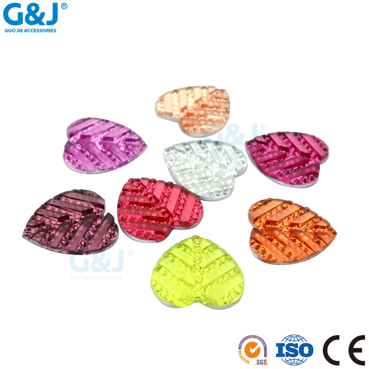 Guojie brand yiwu high quality wholesale custom Flat back sew on fABS acrylic resin stone crystal rhinestone for garments