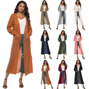 415367df3e0ceb ecowalson Women Spring Loose Open Front Trendy Extra Long Duster Soft  Wollen Cardigan