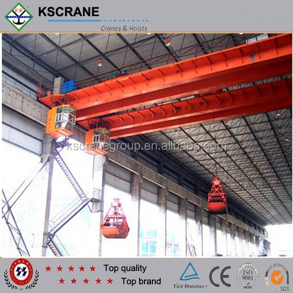 Special Design For Slope Use 25ton Electric Hydraulic Driving Grab Bucket Bridge Crane