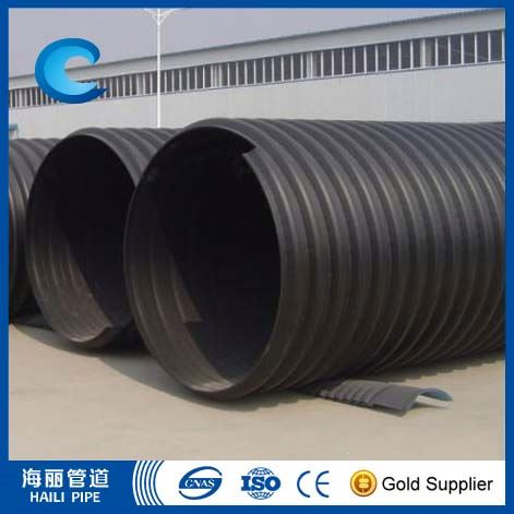 Steel Band Reinforced Hdpe Spiral Corrugated Pipe