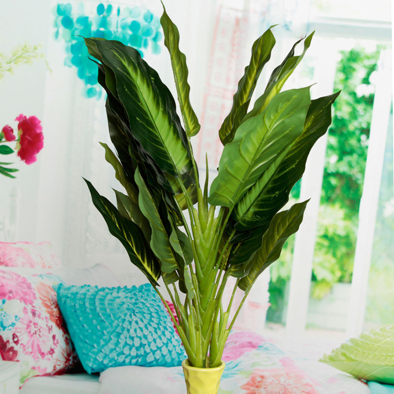 Artificial Aspidistra & Chinese Evergreen Silk Floor Plant ... |Wholesale Silk Plants Chinese Evergreen House