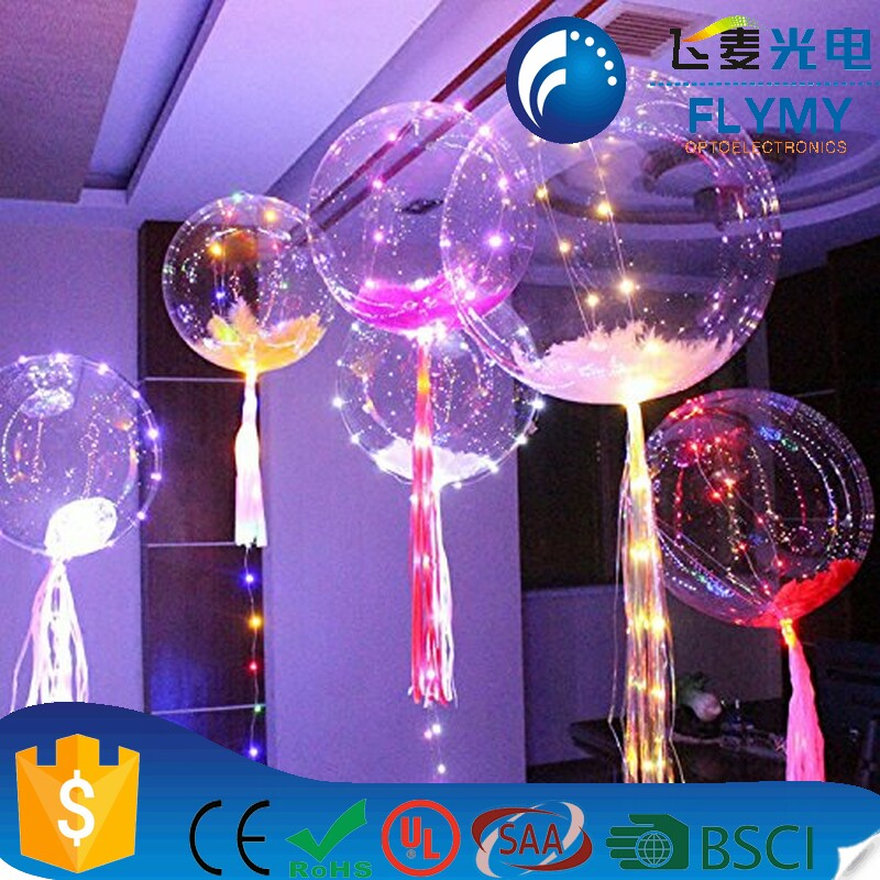 wholesale custom LED light festival celebrating bobo balloons for wedding birthday party