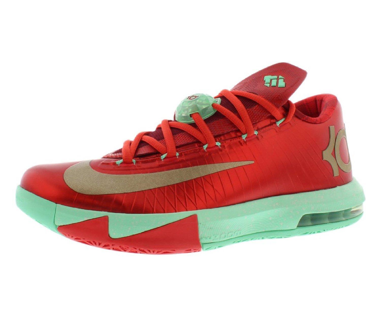 "Nike Mens KD VI ""Christmas"" Synthetic Basketball Shoes"