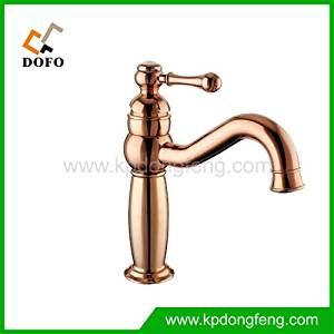 Furesnts European rose gold antique antique copper basin Faucets basin Faucets hot and cold washbasin leading stage basin Faucets,(Standard G 1/2 universal hose ports)