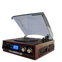 Electric gramophone turntable radio tape retro record player