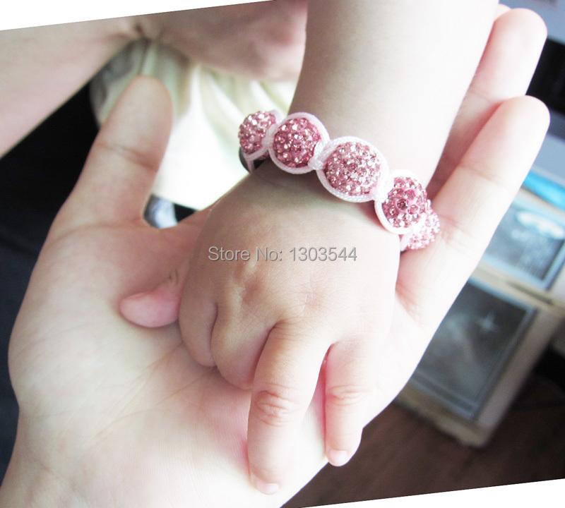 Бесплатная доставка детские шамбалы браслет шарм браслеты дискотечный шар бусины 1 шт. FEAL
