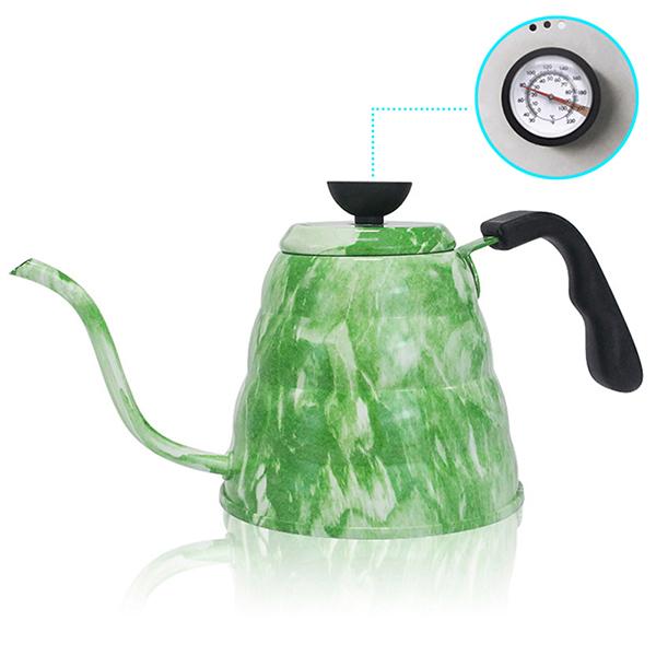Нержавеющая сталь, ручная стирка 1л, кофейник, перколаторы, мелкий рот, чайник, 1.2л, измеряемый температурой чайник, чайные инструменты(Китай)