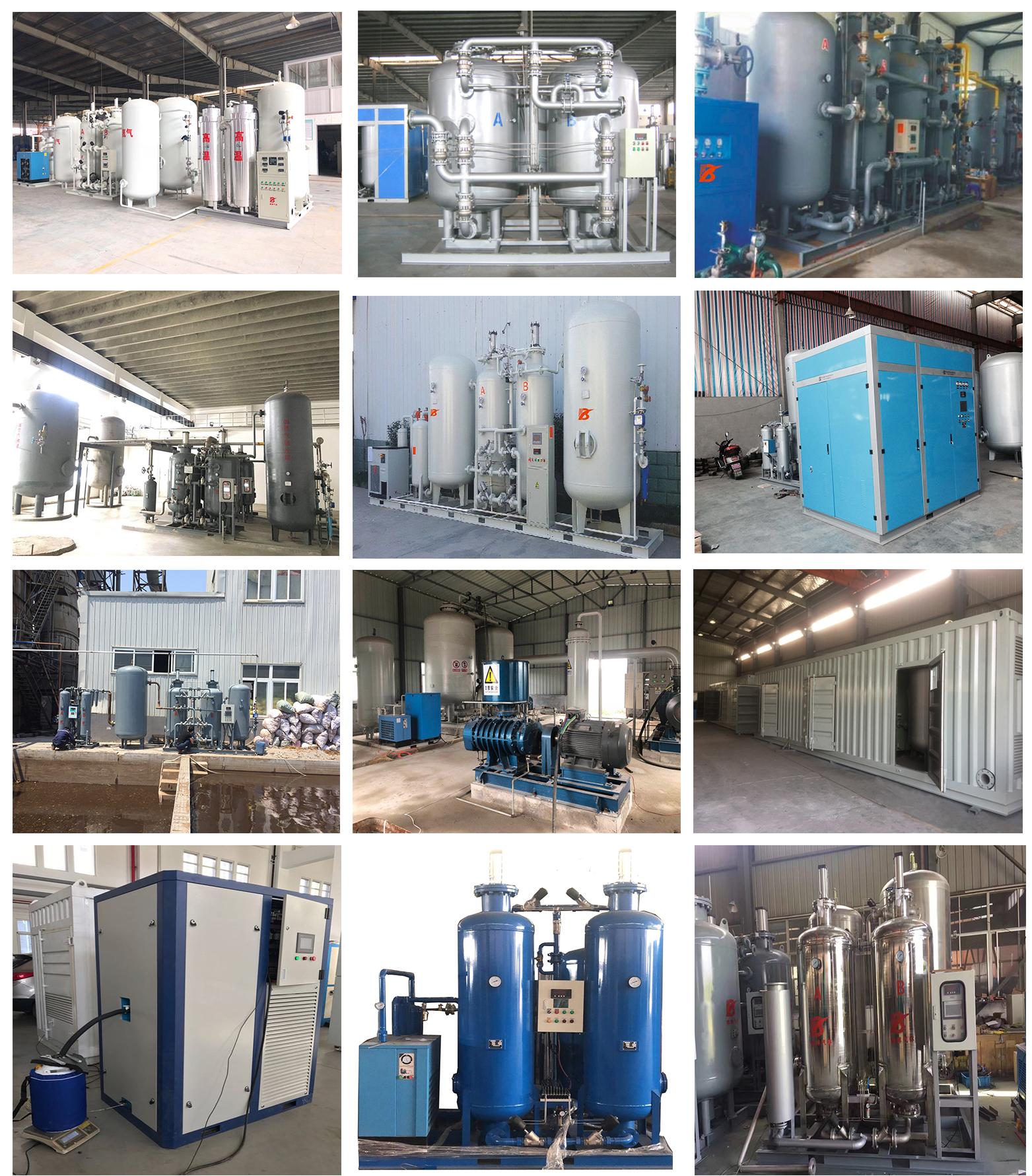 PSA ossigeno azoto argon bombola di gas di biossido di carbonio di riempimento impianto