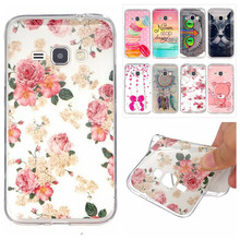 Luxury IMD TPU Silicone Rubber Soft Cartoon Cover For Samsung Galaxy J1 2016 J120 4.5 inch Phone Protective Cases