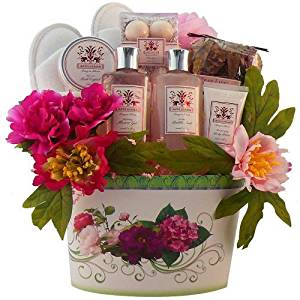 Art of Appreciation Gift Baskets So Serene Peony Floral Spa, Bath and Body Gift Set by Art of Appreciation Gift Baskets