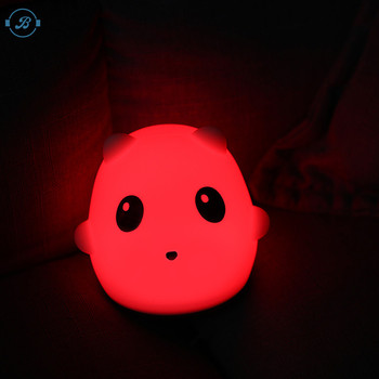 Animal Panda Shaped Funny Led silicone night light products made in China