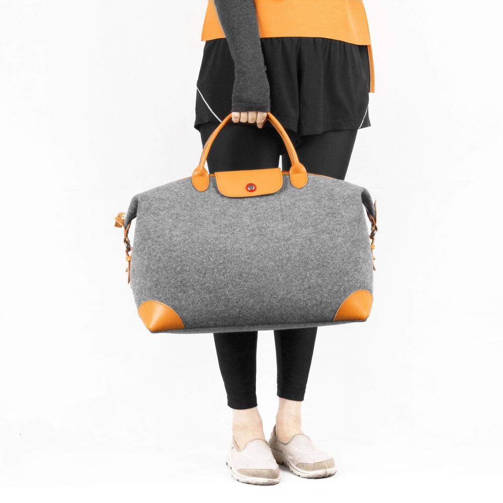 Hot sale folding felt travel bag Luggage travel bag